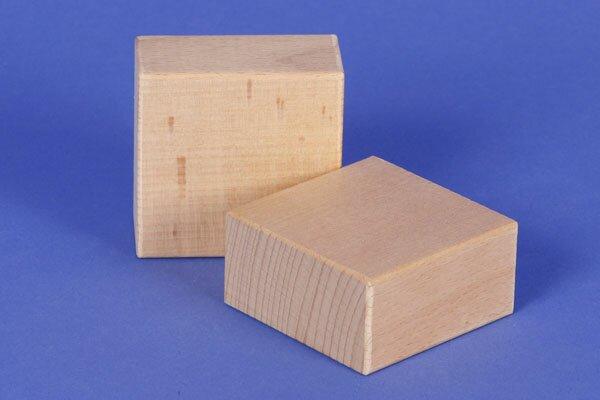 wood stamp 6 x 6 x 3 cm