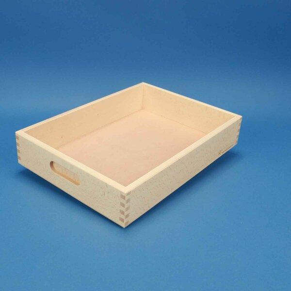 Beukenhouten kist plat zonder bouwblokken