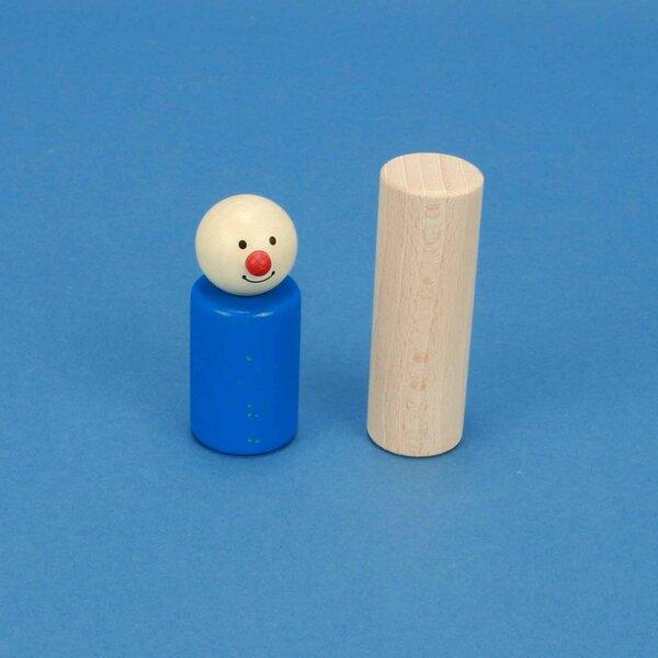 Cilinder beuk Ø 2,5 x 7,5 cm