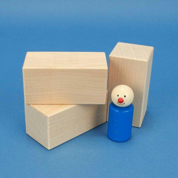 esdoorn houten blokken 9 x 4,5 x 4,5 cm