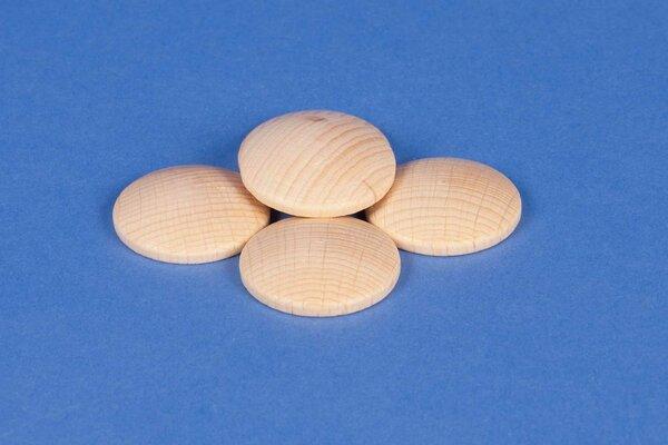 50 Houten knopen beuk Ø 25mm