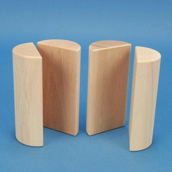 houten columns half Ø 6 x 12 cm
