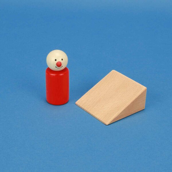 driehoekige houten blokken 6 x 6 x 3 cm