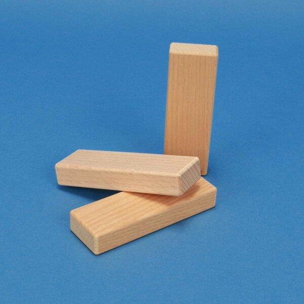 houten bouwblokken 9 x 3 x 1,5 cm