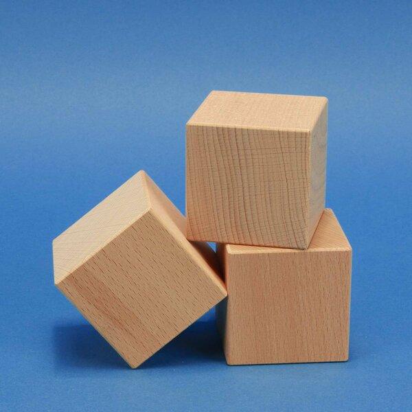 houten kubus blokken beuken 4,5 cm
