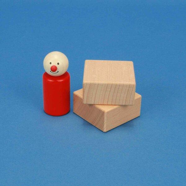 houten blokken 5 x 5 x 2,5 cm