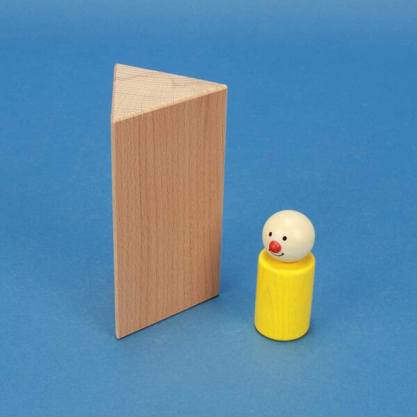 houten columns driehoekig 6 x 6 x 12 cm gelijkbenige
