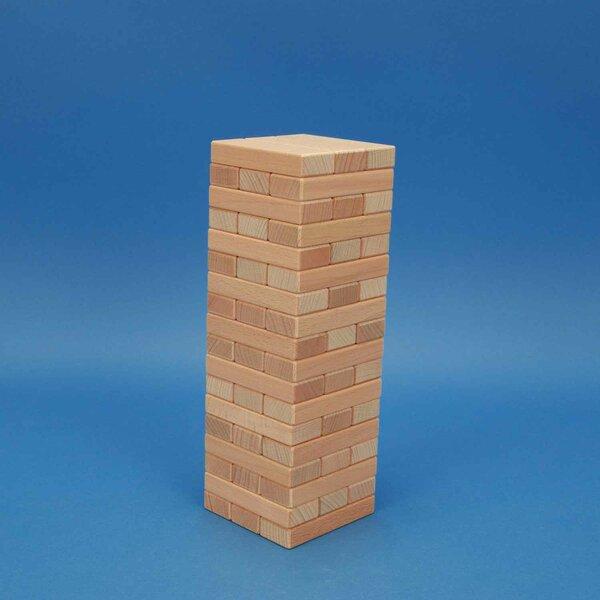 Wiebeltoren van houten blokken