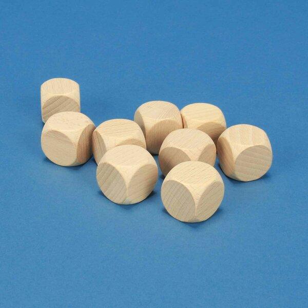Houten dobbelstenen blank 2,5 cm