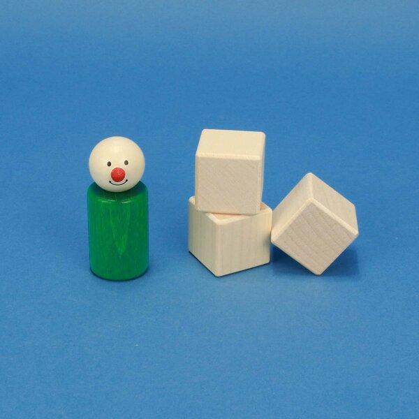 houten kubus blokken esdoorn 3 cm