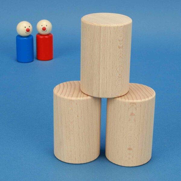Cilinder beuk Ø 5 x 7,5 cm