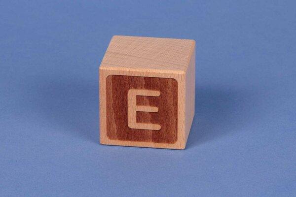 Houten naam blokken E negatief