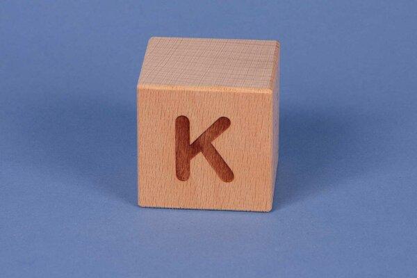 Houten naam blokken K positief