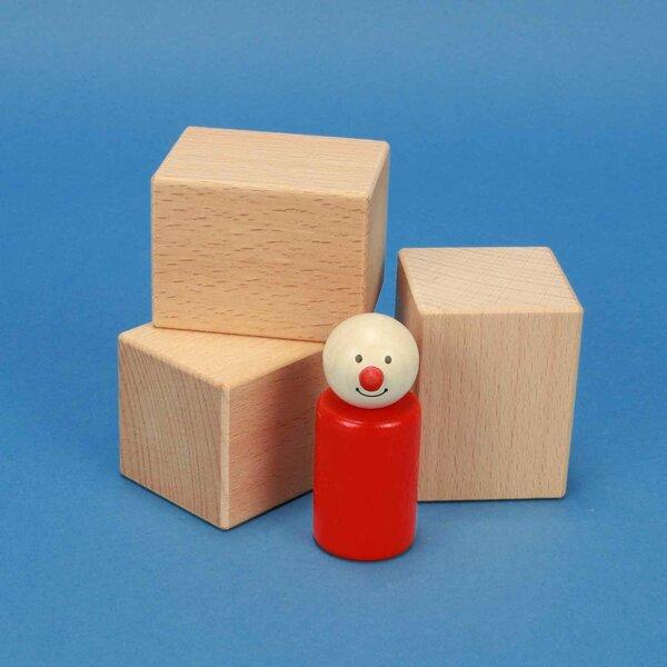 houten blokken 6 x 4,5 x 4,5 cm beuk