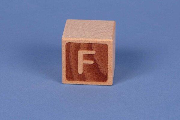 Houten naam blokken F negatief