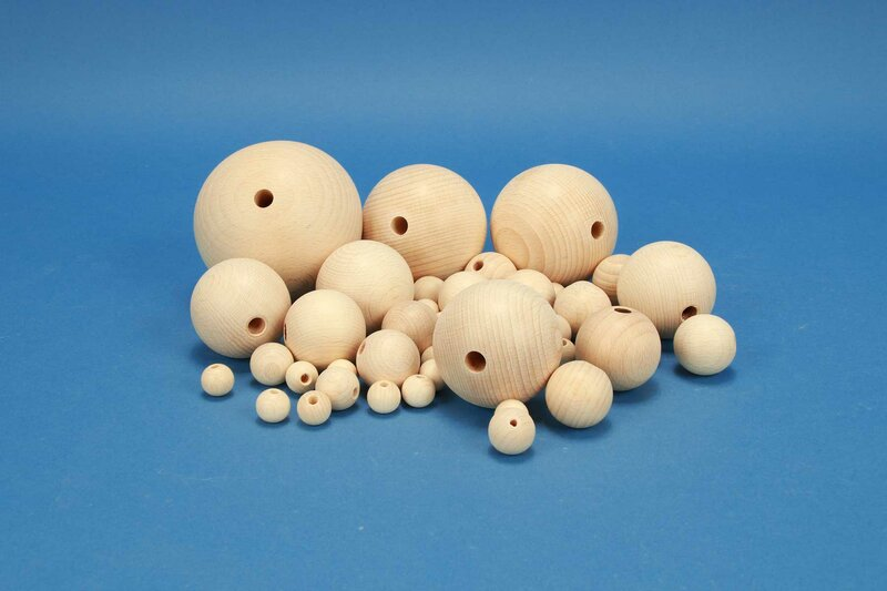 DIY-Houten ballen met boorgat