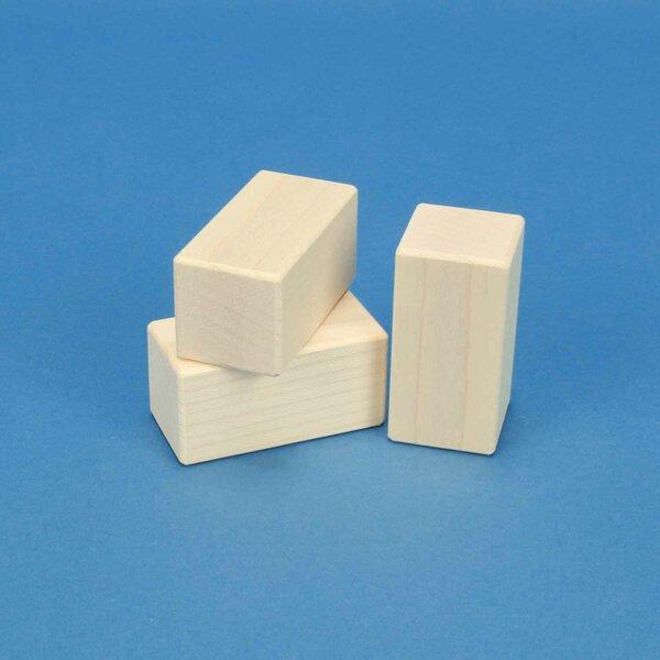esdoorn houten blokken in esdoorn 6 x 3 x 3 cm
