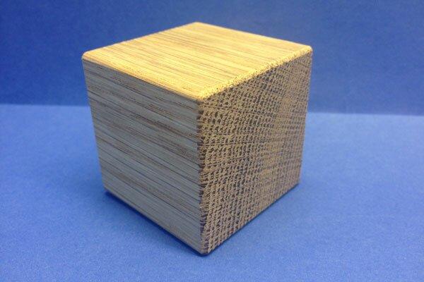kubus blokken eik 3 cm