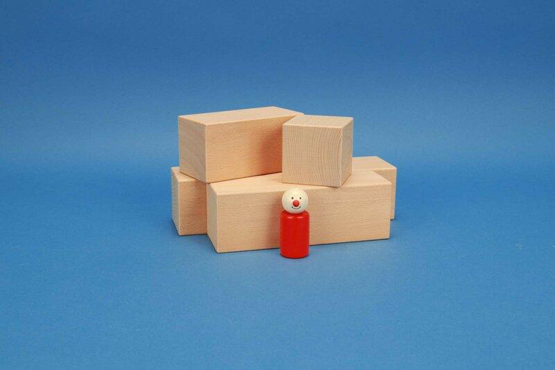 grote houten blokken 6 x 6 cm