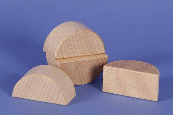 houten columns half Ø 6 x 3 cm