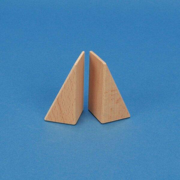 houten bouwblokken driehoekig 6 x 3 x 3 cm
