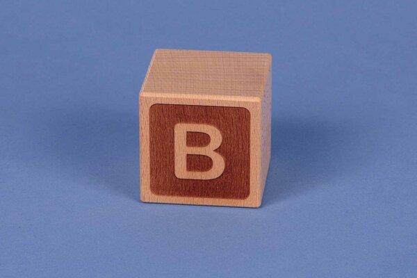 Houten naam blokken B negatief
