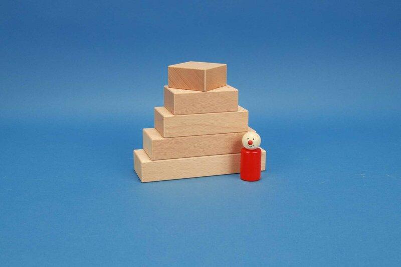 houten blokken Fröbel 6 x 3 cm