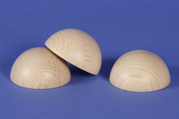 Halve houten ballen beuk Ø90mm