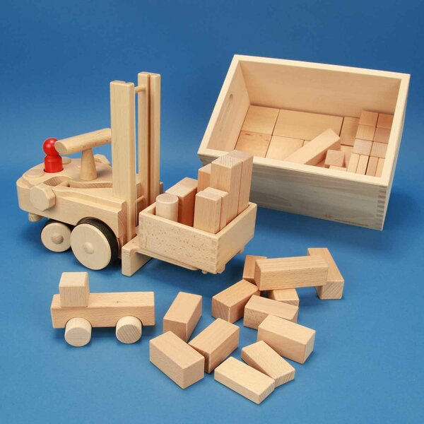 Heftruck met box NIC CREAMOBIL 1884 + KSET50