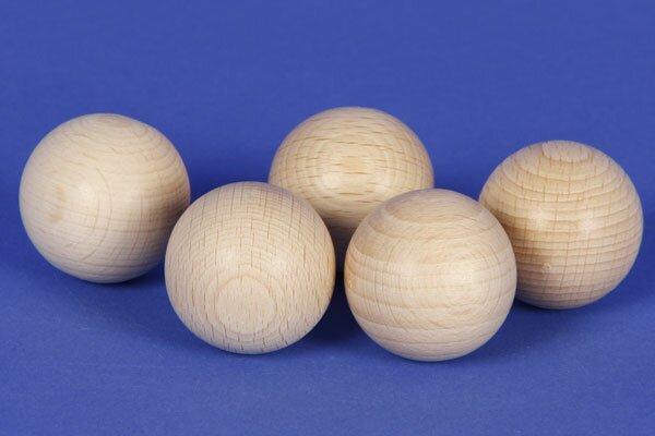 100 Houten ballen beuk Ø 12mm