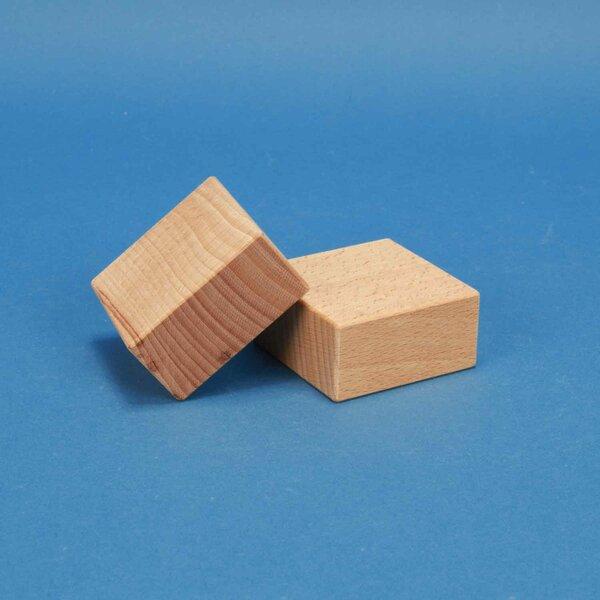 houten blokken 6 x 6 x 3 cm
