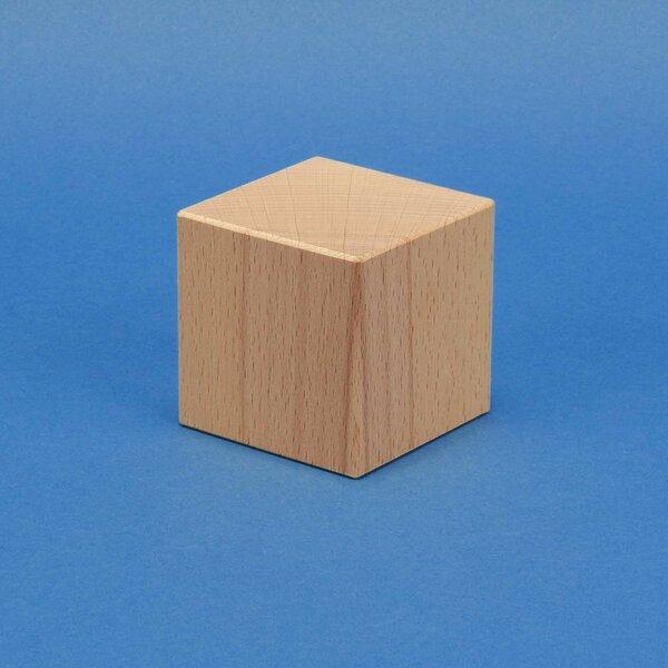 houten kubus beuk 4 cm