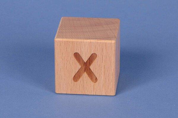 Houten naam blokken X positief
