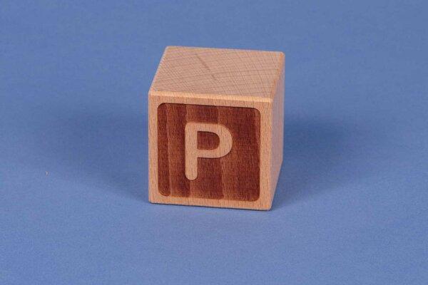 Houten naam blokken P negatief