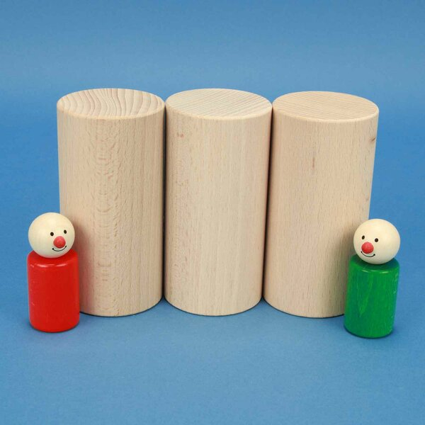 houten blokken rond Ø 6 x 12 cm