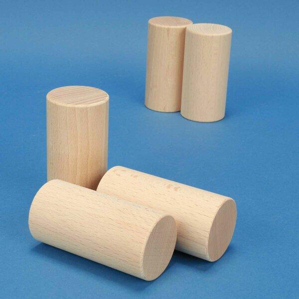 houten cilinder Ø 4,5 x 9 cm