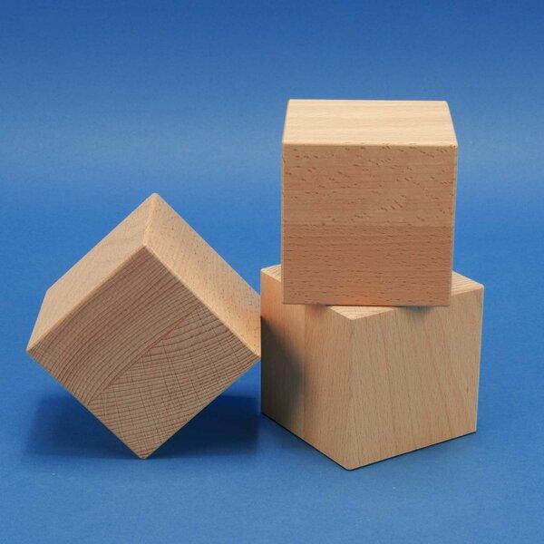 Deco houten kubus blokken 12 cm