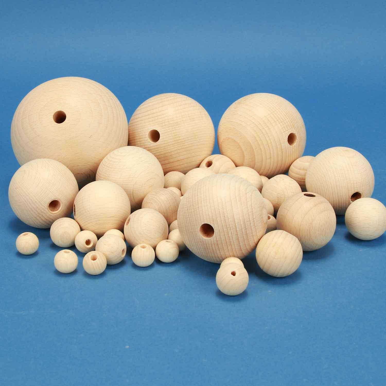 houten ballen halfgeboord