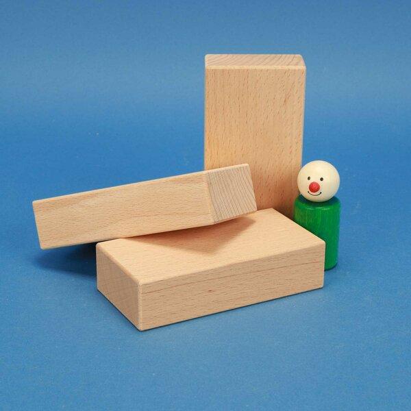 houten bouwblokken 12 x 6 x 3 cm