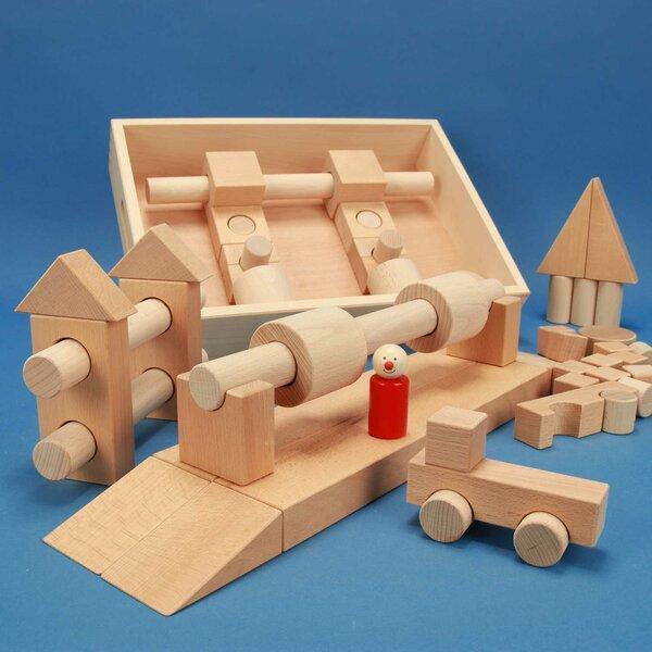 Set houten blokken Special 57 beukenkist + lasermarkering