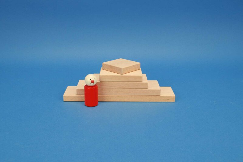 houten blokken vierkant 6 x 1,5 cm