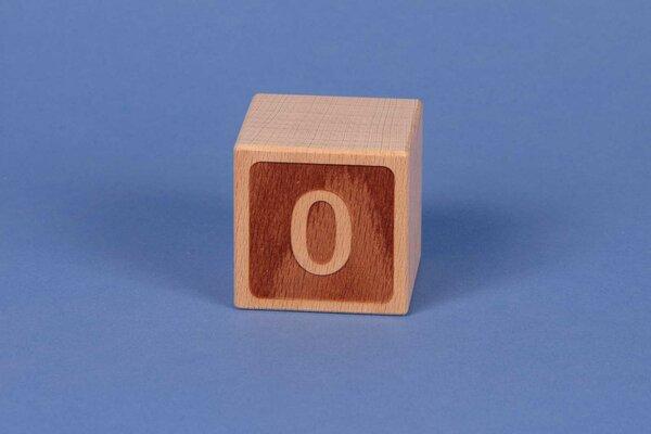 Houten naam blokken 0 negatief