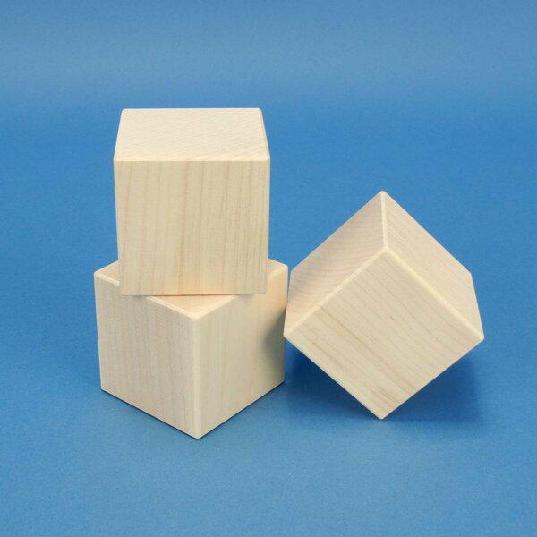 esdoorn kubus blokken 6 cm