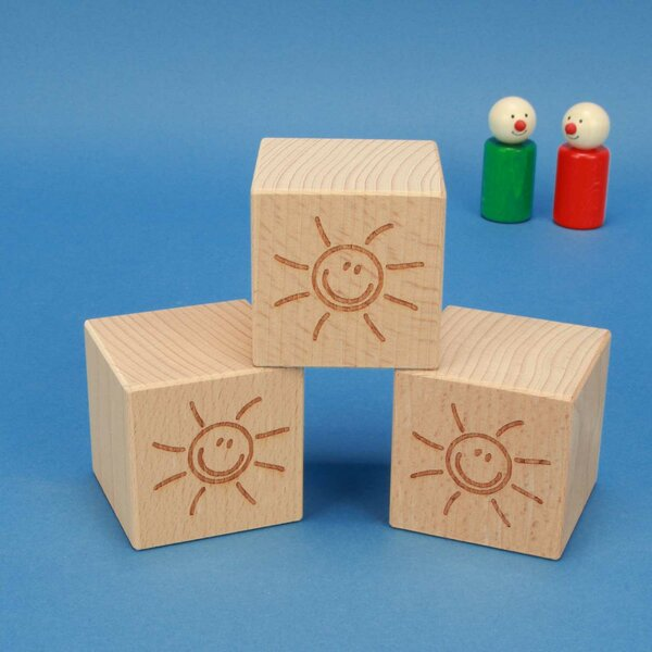 SMILE houten kubus 6 cm