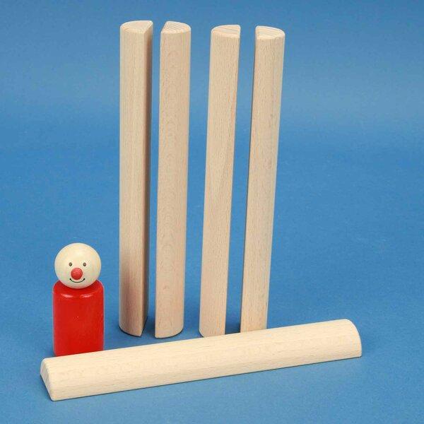 houten columns half Ø 3 x 18 cm