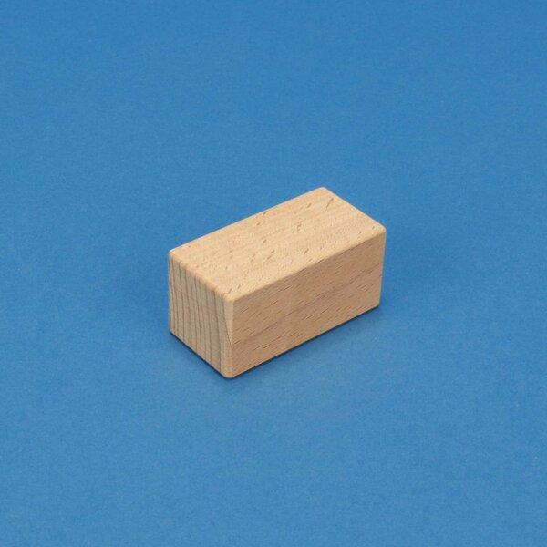 wood stamp 6 x 3 x 3 cm