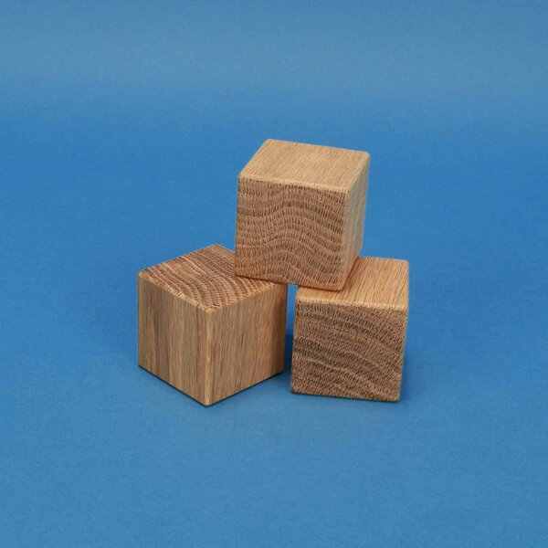 kubus blokken eik 4,5 cm