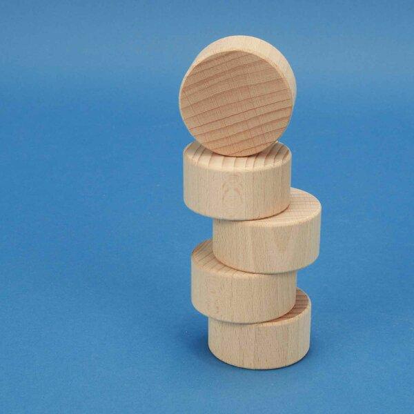 Cilinder beuk Ø 5 x 2,5 cm