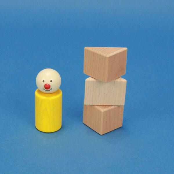 driehoekige houten blokken 3 x 3 x 3 cm