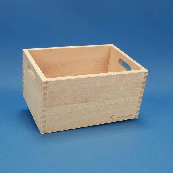 Beukenhouten kist klein zonder bouwblokken